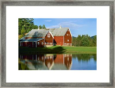 Agriculture - Classic Red New England Framed Print
