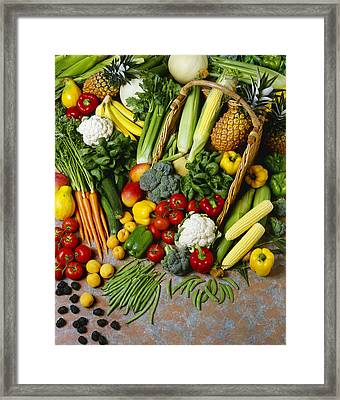 Agriculture - Mixed Fruit Framed Print by Ed Young
