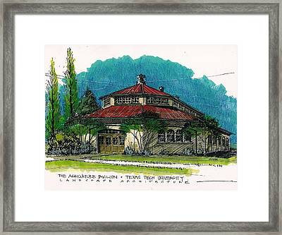 Agriculture Pavilion At Texas Tech Framed Print by Tim Oliver