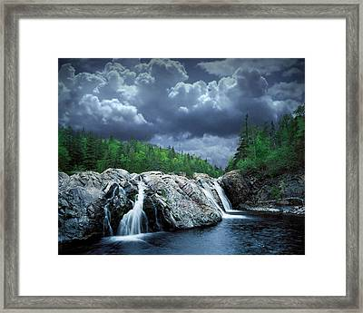 Aguasabon River Mouth Framed Print by Randall Nyhof