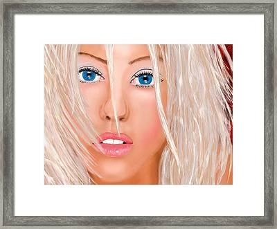 Aguilera Beautiful Framed Print