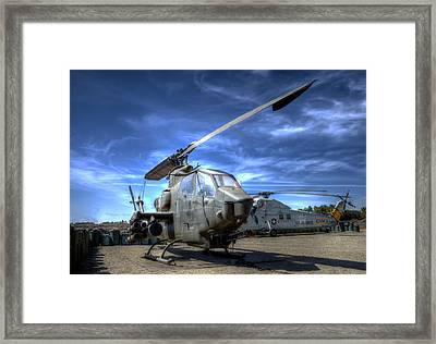 Ah-1 Cobra Framed Print by Richard Stephen
