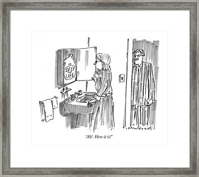 Ah!  Here It Is! Framed Print by Michael Crawford