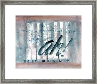 ah Music Framed Print by Judy Dodds