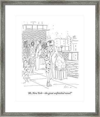 Ah, New York - The Great Unfinished Novel! Framed Print by Richard Cline