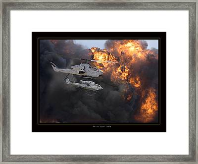 Ah1w Super Cobra Framed Print by Larry McManus