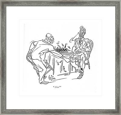 Aha! Framed Print by George Price