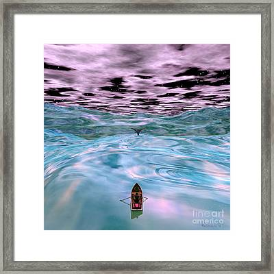 Ahab And The Whale Framed Print
