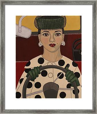Ahead Of Her Time Framed Print by Stephanie Cohen