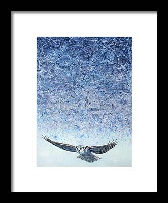 Snowy Owls Framed Prints