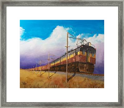Ahead Of The Weather Framed Print by Christopher Jenkins
