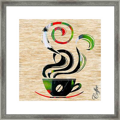 Ahh Coffee Framed Print