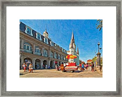 Ahh...new Orleans Impasto Framed Print by Steve Harrington
