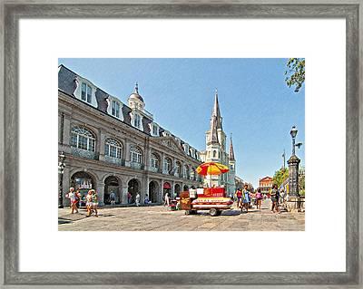 Ahh...new Orleans Sketch Framed Print