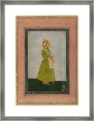Ahmad Shah Framed Print by British Library