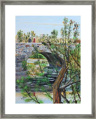 Ahnapee River Crossing Framed Print by Jack G  Brauer