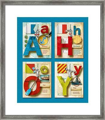 Ahoy Blue Framed Print by Vanessa Bates