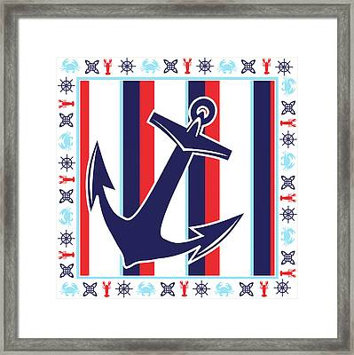 Ahoy Ix Framed Print