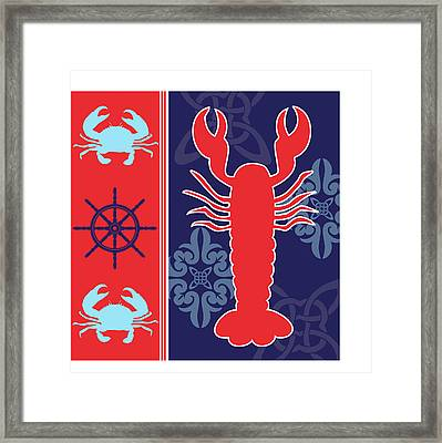 Ahoy X Framed Print