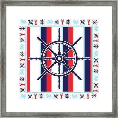 Ahoy Xiii Framed Print