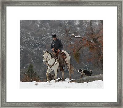 Ahwahnee Cowboy Framed Print