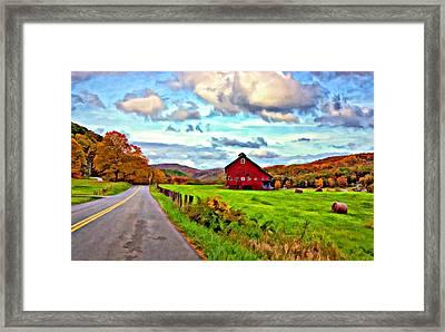 Ah...west Virginia Oil Framed Print by Steve Harrington