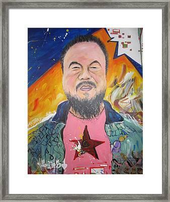 Ai Weiwei Framed Print by Erik Franco