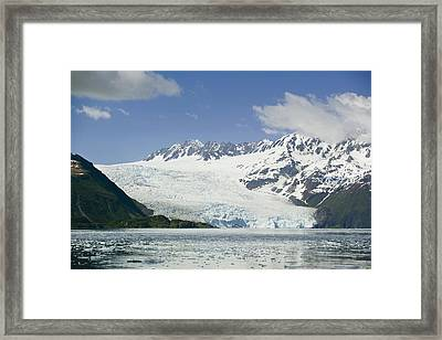 Aialik Glacier Meets Aialik Bay Within Framed Print