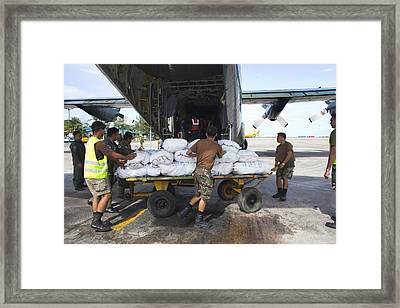 Aid For Super Typhoon Haiyan Survivors Framed Print