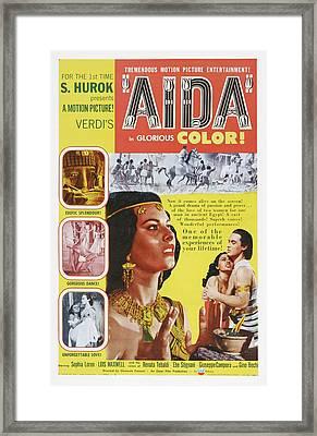 Aida, Us Poster Art, From Left Sophia Framed Print