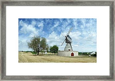 Aigremonts Windmill In A Field Framed Print