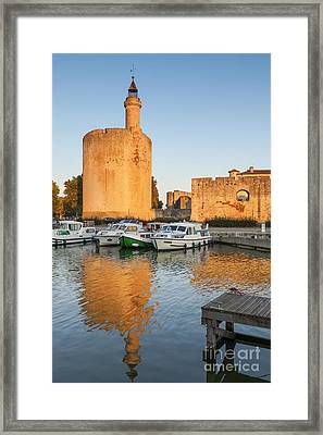 Aigues-mortes  Languedoc-roussillon France Constance Tower Framed Print by Colin and Linda McKie