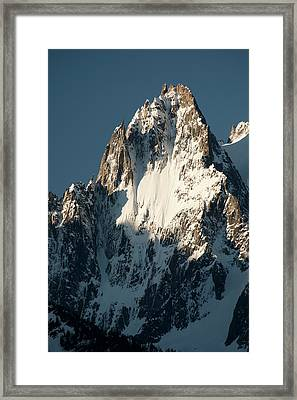Aiguille Des Grands Charmoz Framed Print by Duncan Shaw