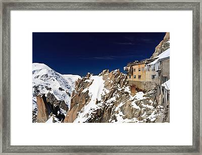 Framed Print featuring the photograph Aiguille Du Midi -  Mont Blanc Massif by Antonio Scarpi