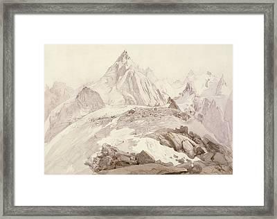 Aiguilles De Chamonix Framed Print by John Ruskin