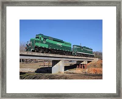 Aiken Railway 01/19/2014 Framed Print