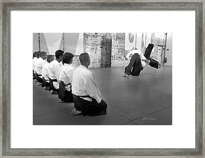 Aikido Demonstration Framed Print by Frederic A Reinecke