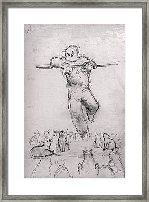 Ailurophobia Framed Print by H James Hoff