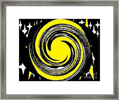 Framed Print featuring the digital art Aimee Starry Night by Catherine Lott