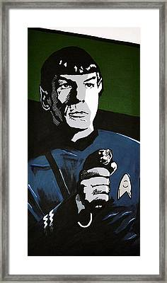 Aiming His Phaser Framed Print by Judith Groeger