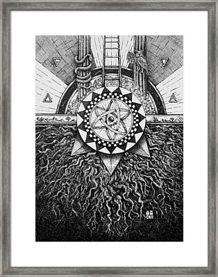 Ain Sof To Malkuth - Kaballah Framed Print
