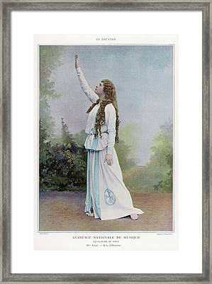 Aino Ackte  Finnish Opera Singer, Seen Framed Print by Mary Evans Picture Library