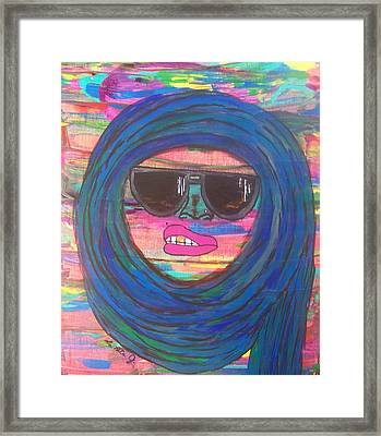 Ain't Even Worried About It Framed Print by LaRita Dixon