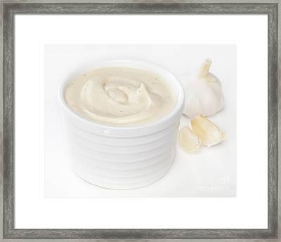 Aioli Garlic Mayonnaise Framed Print by Colin and Linda McKie