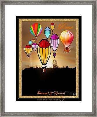 Air Balloons Reno Framed Print by Bobbee Rickard