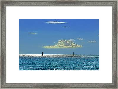 Framed Print featuring the photograph Air Beautiful Beauty Blue Calm Cloud Cloudy Day by Paul Fearn