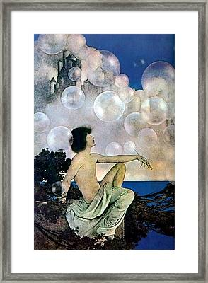 Air Castles Framed Print by Maxfield Parrish