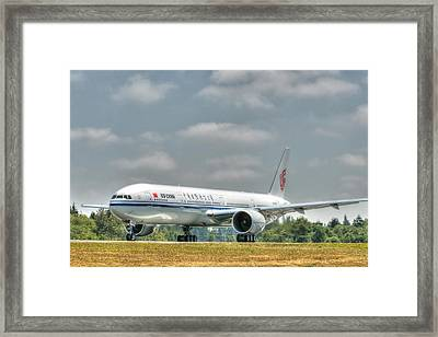 Air China 777 Framed Print by Jeff Cook