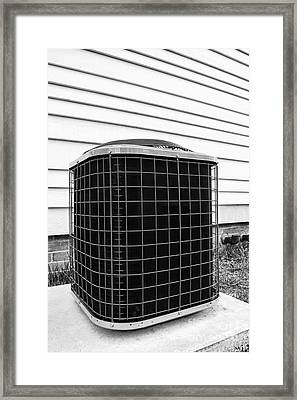 Air Conditioner Condenser Framed Print by Olivier Le Queinec