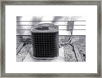 Air Conditioner Fan Framed Print by Olivier Le Queinec